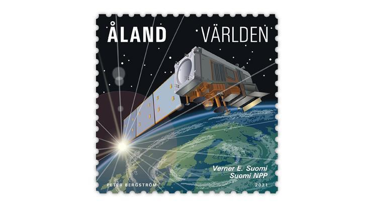 aland-2021-verner-suomi-weather-satellite-stamp