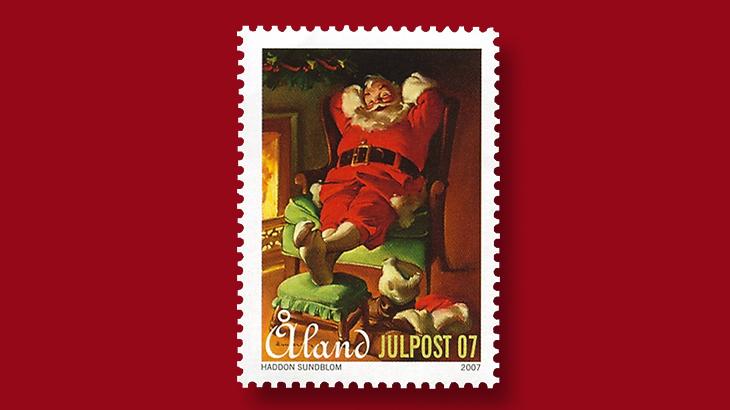 aland-christmas-stamp-coca-cola-santa