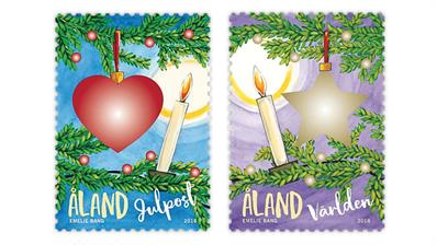 Aland Christmas stamps for 2018