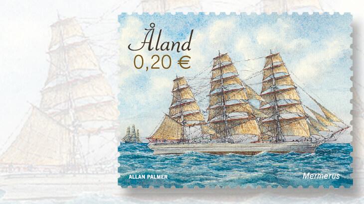 aland-sailing-ship-stamp