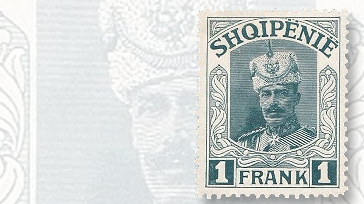albanian-one-frank-prince-vidi-i-stamp