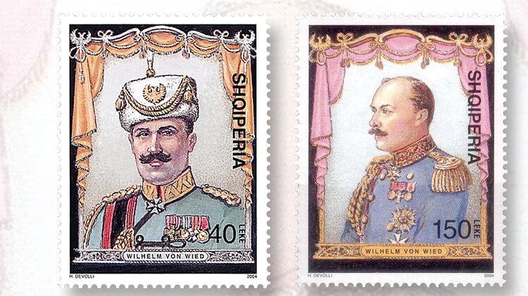 albanian-prince-wilhelm-zu-wied-anniversary-stamp