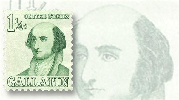 albert-gallatin-prominent-americans-stamp