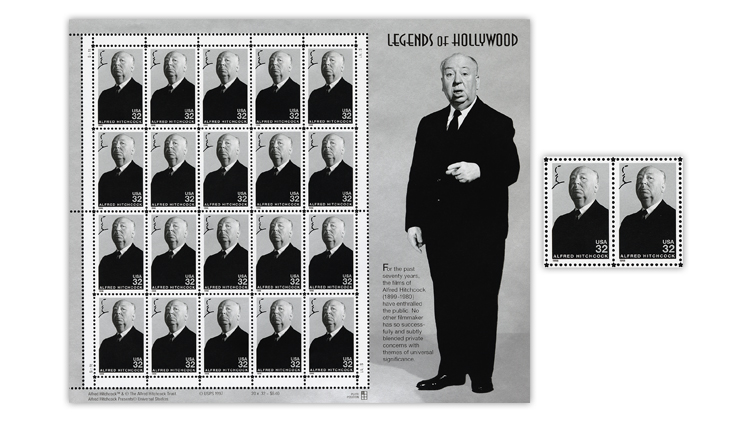 alfred-hitchcock-legends-of-hollywood-stamp