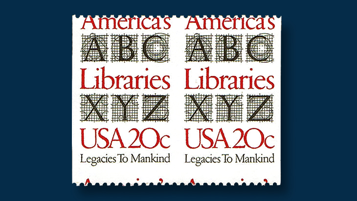 america-library-stamp