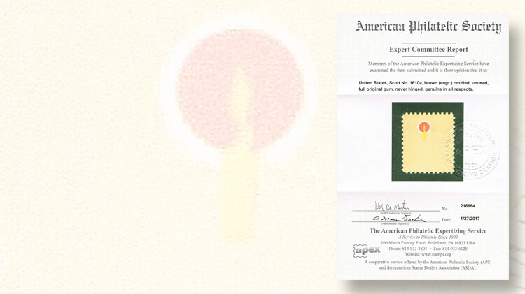 american-philatelic-society-expertizing-service-apex-certificate