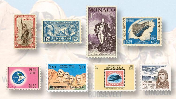americana-stamps-around-world