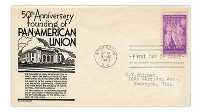 anderson-first-day-cover-united-states-1940-pan-american-union-stamp