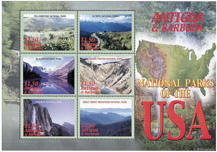 antigua-barbuda-stamps-us-national-parks