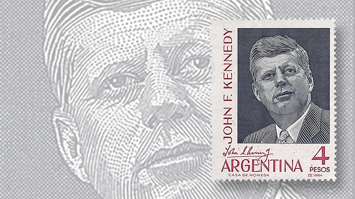 argentina-john-f-kennedy-stamp-kenmore-stamp-company-matchbook