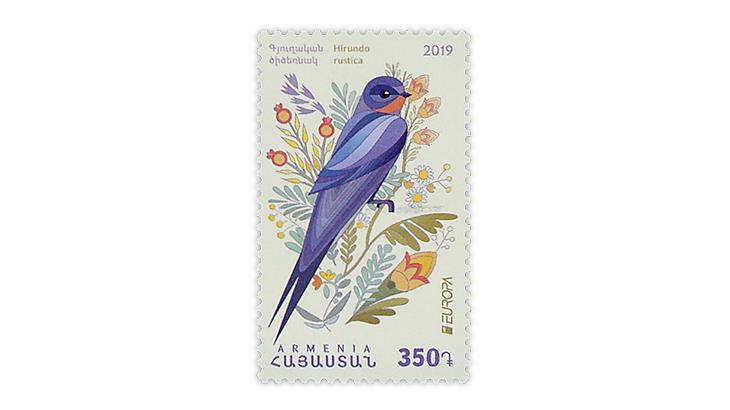 armenia-2019-europa-barn-swallow-stamp-asiago-award
