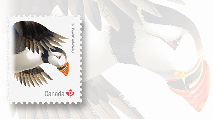 atlantic-puffin-canadian-bird-stamp