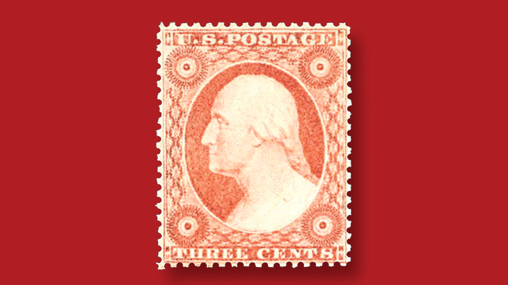 auction-kelleher-1857-rose-george-washington-stamp-type-two