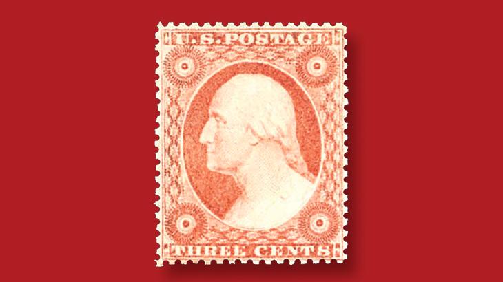 auction-kelleher-1857-rose-george-washington-stamp-type-two