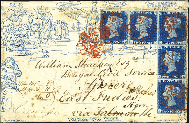 auction-roundup-feldman-1840-mulready-cover-five-two-penny-blue-india