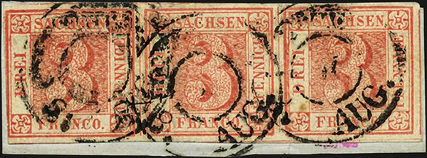 auction-roundup-gaertner-saxony-first-stamp-strip-of-three