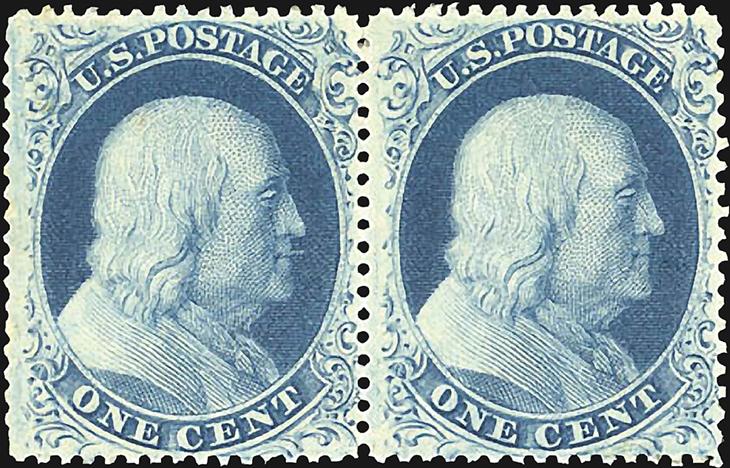 auction-roundup-kelleher-1857-franklin-pair-types-iii-iiia