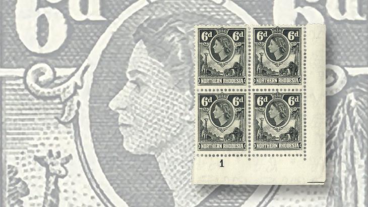 auction-roundup-northern-rhodesia-queen-elizabeth-ii-block-victoria-stamp-company