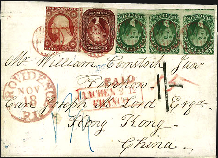 auction-roundup-rumsey-1856-rhode-island-hong-kong-cover-three-color-franking