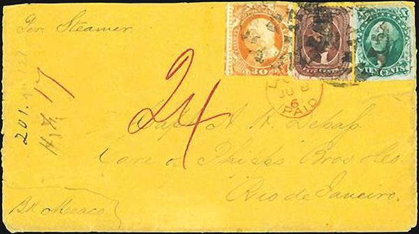 auction-roundup-schuyler-rumsey-transatlantic-cover-united-states-london-rio-de-janeiro