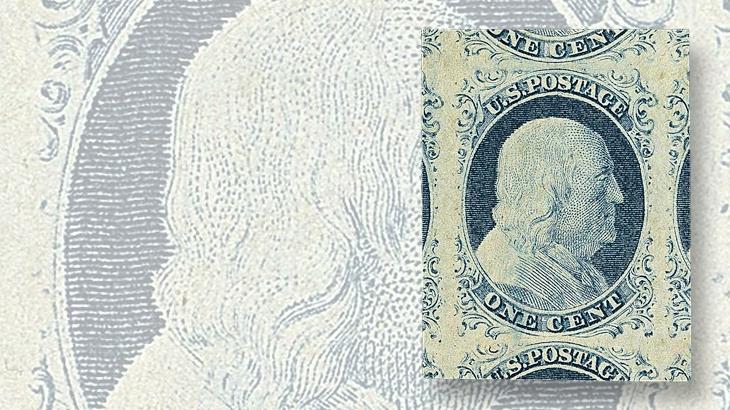 auction-roundup-siegel-1851-franklin-type-iv-stamp