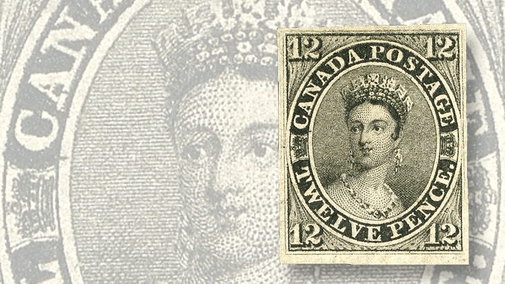 auction-roundup-spink-canada-12-penny-black-queen-victoria-stamp