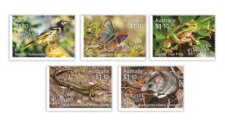 australia-2020-stamp-collecting-month-endangered-animals-stamps
