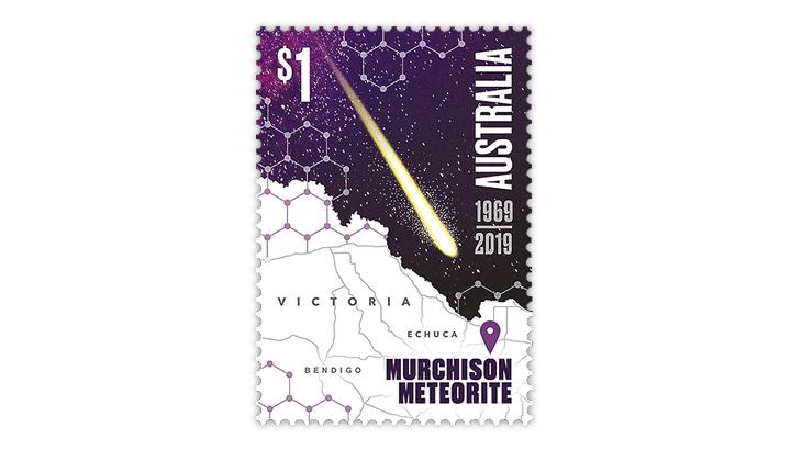 australia-50th-anniversary-murchison-meteorite-stamp