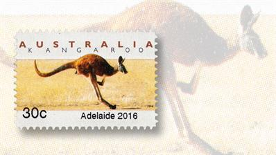 australia-emergency-stamp-adelaide-kangaroo