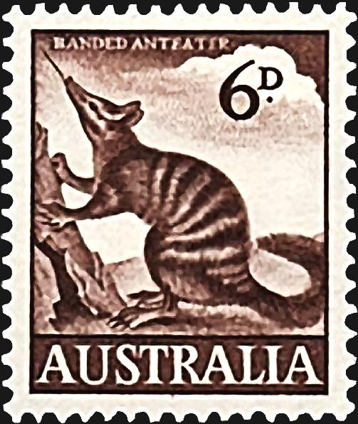 australia-endangered-banded-anteater-stamp-1959