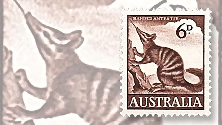 australia-endangered-banded-anteater-stamp