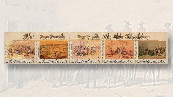 australia-gold-rush-stamps