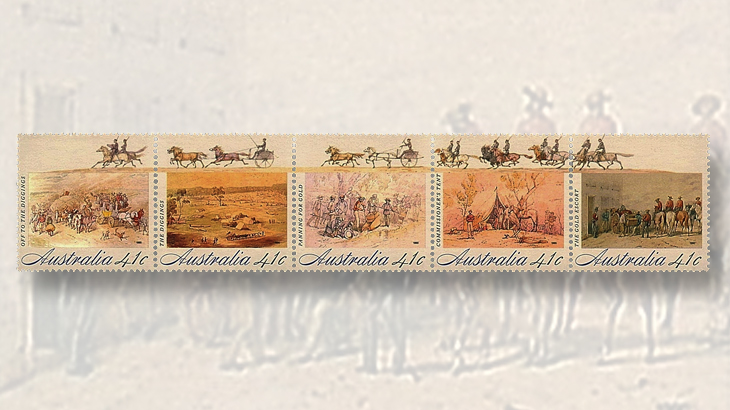 australia-gold-rush-stamps