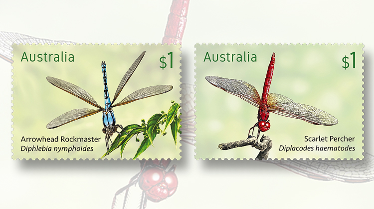 australia-post-dragonflies-rockmaster-scarlet-percher