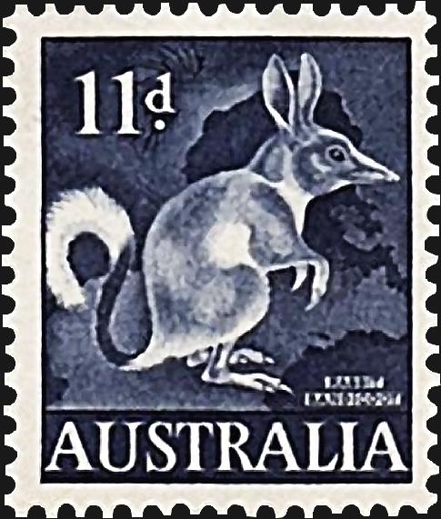australia-rabbit-bandicoot-definitive-stamp-1961