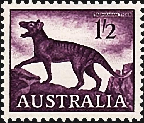 australia-tasmanian-tiger-definitive-stamp-1962