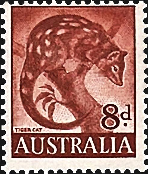 australia-tiger-cat-definitive-stamp-1960