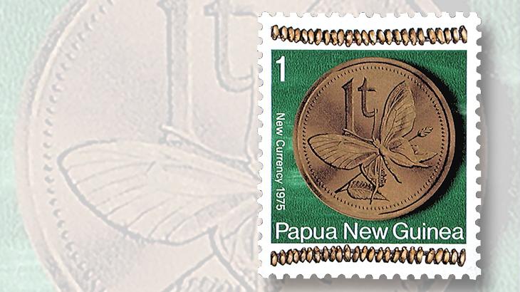 australian-coin-papua-new-guinea-stamp