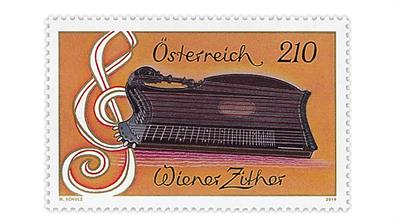austria-2019-viennese-zither-stamp