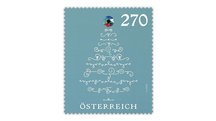 austria-Christmas-tree-crystal-stamp