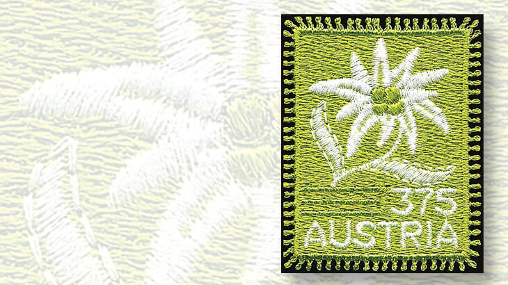 austria-first-embroidered-stamp
