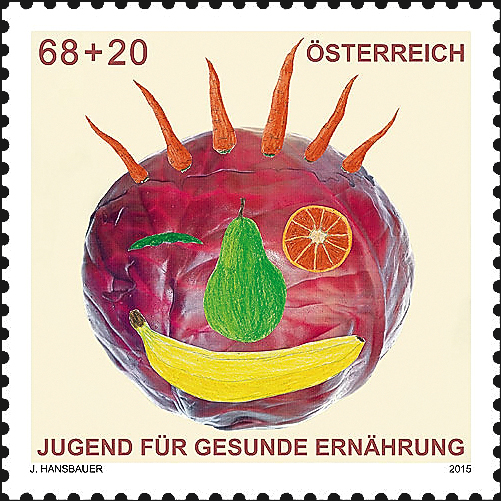 austria-healthy-diet-semipostal-stamp-2015