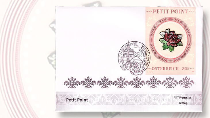 austria-petit-point-embroidery-souvenir-sheet