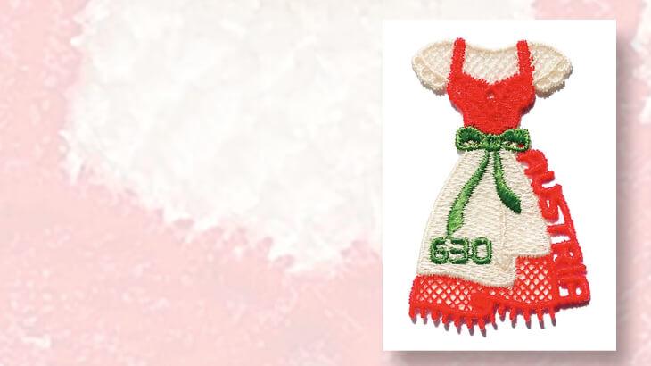 austria-post-dirndl-dress-embroidered-stamp