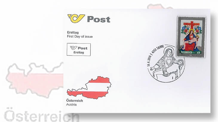 austria-post-glass-stamp-first-day-cover