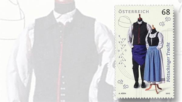 austria-traditional-clothing-stamp