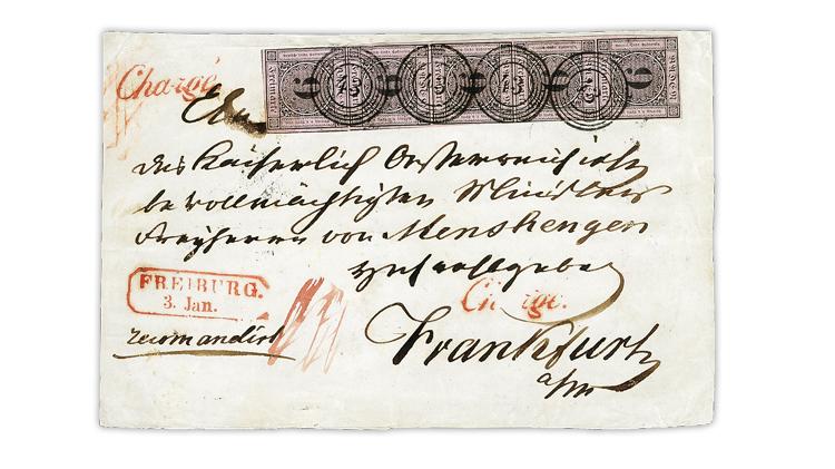baden-1851-9-kreuzer-black-strip-of-five-cover