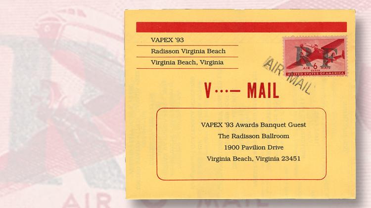 banquet-souvenir-vapex-93-stamp-show