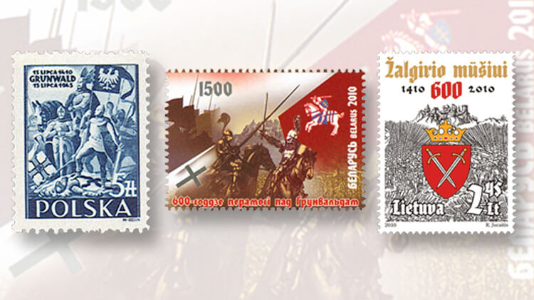 battle-of-grunwald-stamps