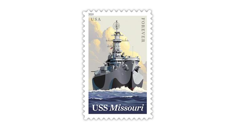battleship-uss-missouri-stamp